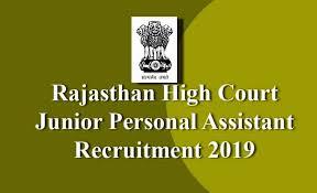 Rajasthan High Court Jr. PA Recruitment 2019